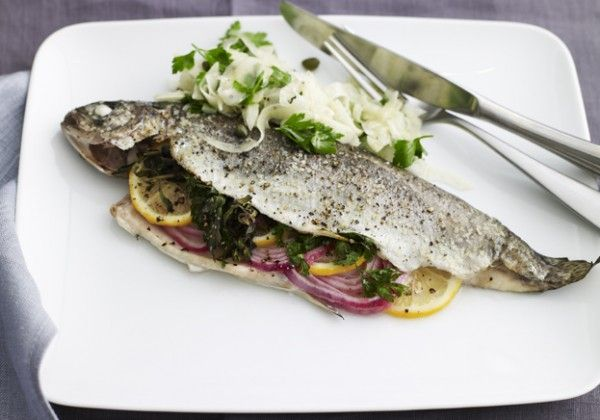 Whole Baked Trout with Fennel from Joy Of Kosher #dinner #recipe #fish
