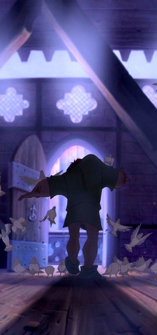 Quasimodo, hunchback of notre dame. Probably the best disney music came out of this movie.