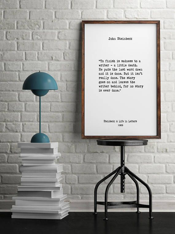 John Steinbeck Book Quotes Wall Art Inspiring Quotes