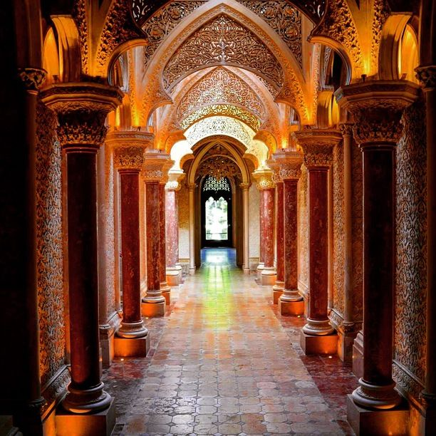 Portugal, London, England — by ioana_exploring. Palace of Monseratte in Sintra. Divine.