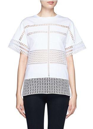 CHLOÉ - Diamond lace silk organza under layer T-shirt | White T-Shirts Tops | Womenswear | Lane Crawford