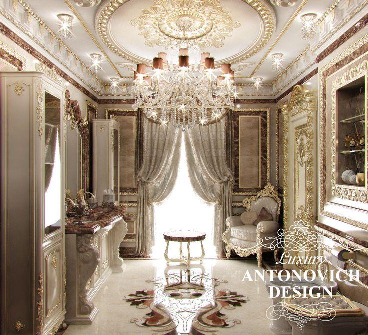 Элитный дизайн коттеджа с мраморными полами в классическом стиле от дизайн студии Luxury Antonovich Design