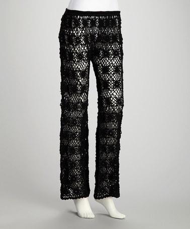 Black Crochet Pants ...NO PATTERN or CHART...crochet inspiration ONLY...