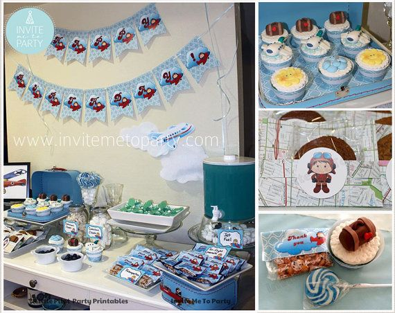 Little Pilot / Little Aviator Printable Party by InviteMe2Party, $29.00