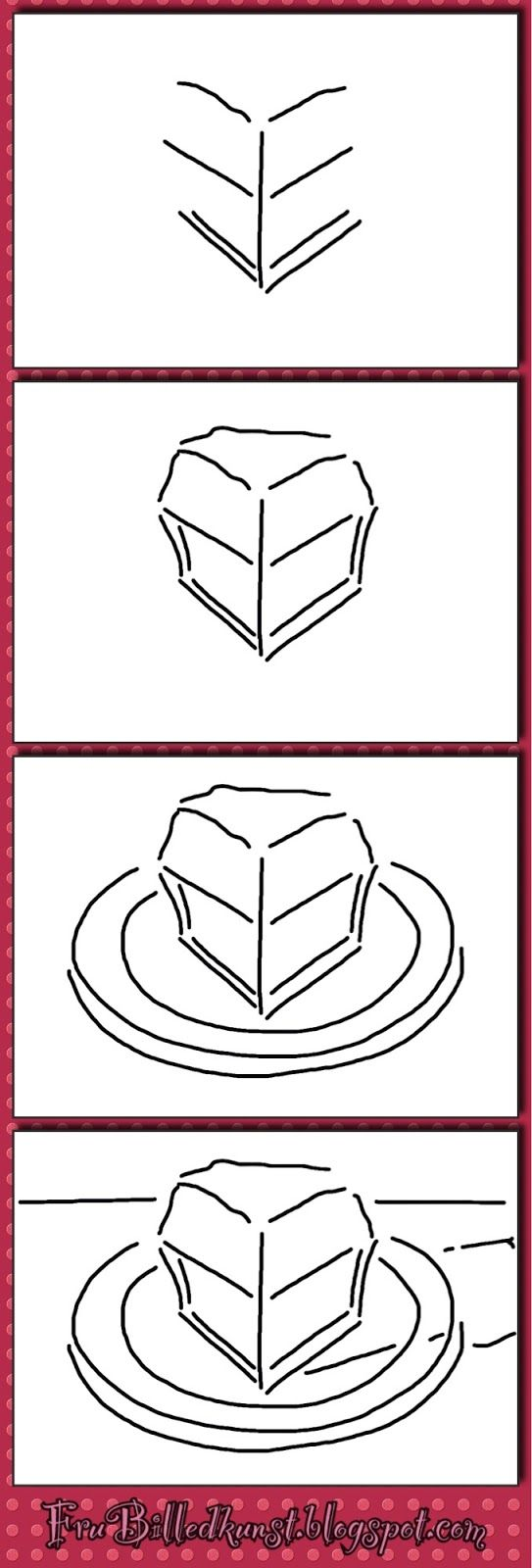 Wayne Thiebaud Art Activities - how to draw ice cream cones, cake slices, cupcakes, glasses.
