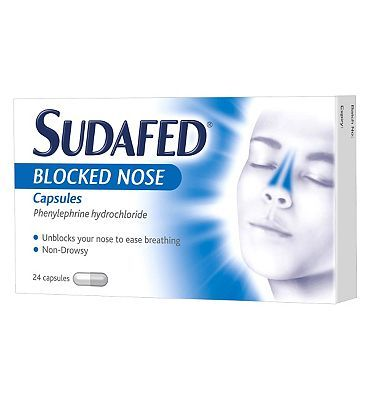 Sudafed Blocked Nose Capsules (24 Capsules) 16 Advantage card points. Effectively clears stuffy noses associated with colds and hayfever.See details below, always read the labelSuitable for: Adults and children over the age of 12 yearsActive in http://www.MightGet.com/february-2017-1/sudafed-blocked-nose-capsules-24-capsules-.asp