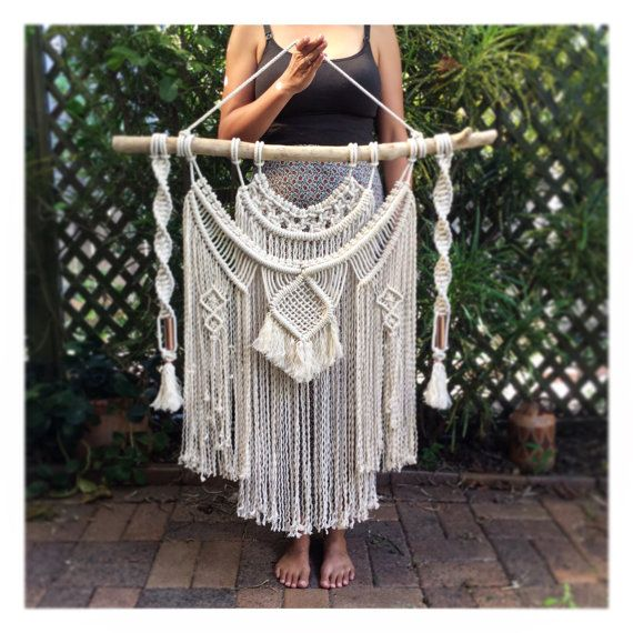 Extra Large Macrame Wall Hanging on Driftwood by HomeVibesMacrame