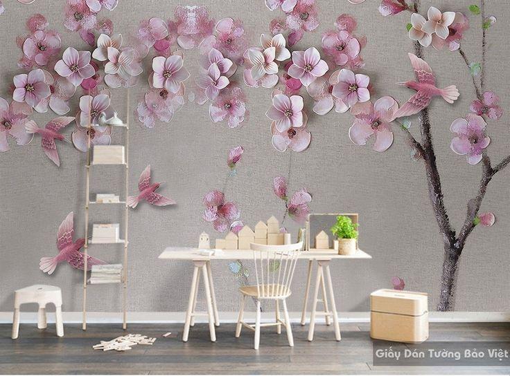 Giấy dán tường phòng khách 3D đẹp H068 | Giấy dán tường Bảo Việt