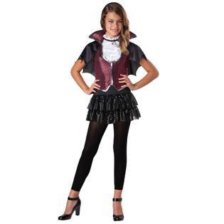 InCharacter Girls Vampire Costume  - Glampiress Halloween Costume 8-10