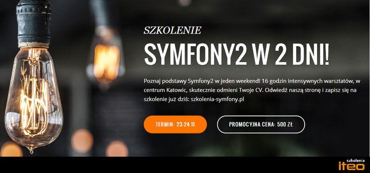 Szkolenie Symfony2 w promocyjnej cenie już 23-24.11