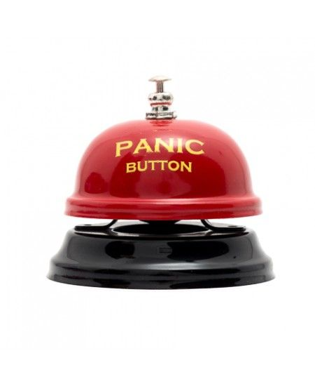 "Daca ai un coleg sau o colega mai panicat(a)... am gasit cadoul excelent pt el / ea: #Clopotel de masa ""Panic Button"""
