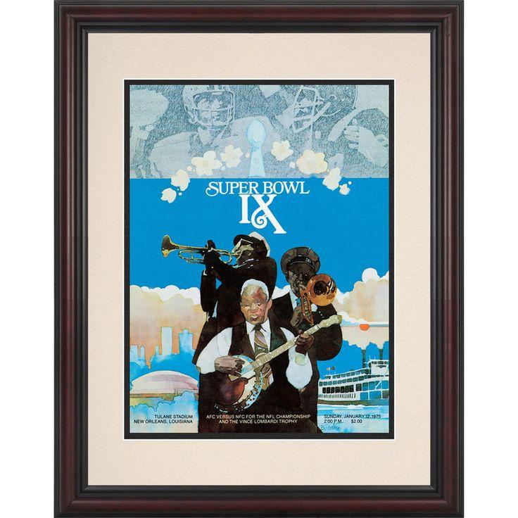 "Fanatics Authentic 1975 Steelers vs. Vikings Framed 8.5"" x 11"" Super Bowl IX Replica Program"