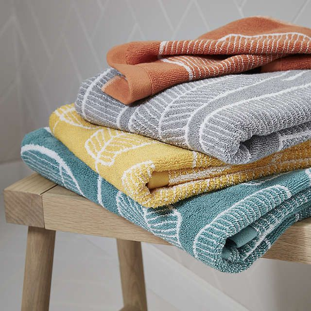 BuyJohn Lewis Scandi Tor Face Cloth, Citrus / Grey Online at johnlewis.com