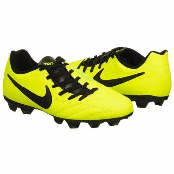 Nike JR T90 Shoot IV FG Shoes (Volt/Citron/Black) - Kids' Shoes - 5.0 M