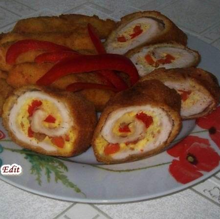 Rántott töltött csirkemell burgonyakrokettel Recept képpel -   Mindmegette.hu - Receptek