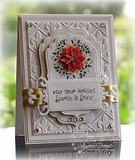 Spellbinders Christmas Card - wow  Too fancy for Christmas...but Wow!