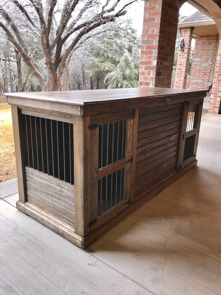 151 best urban farmhouse indoor dog kennels images on for Xl indoor dog kennel