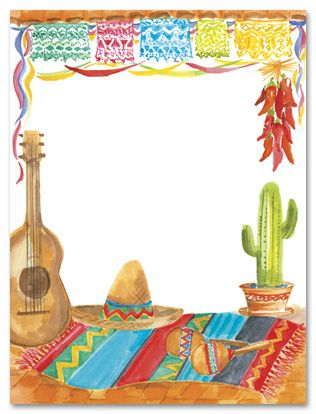 Fiesta Theme Party Invitations