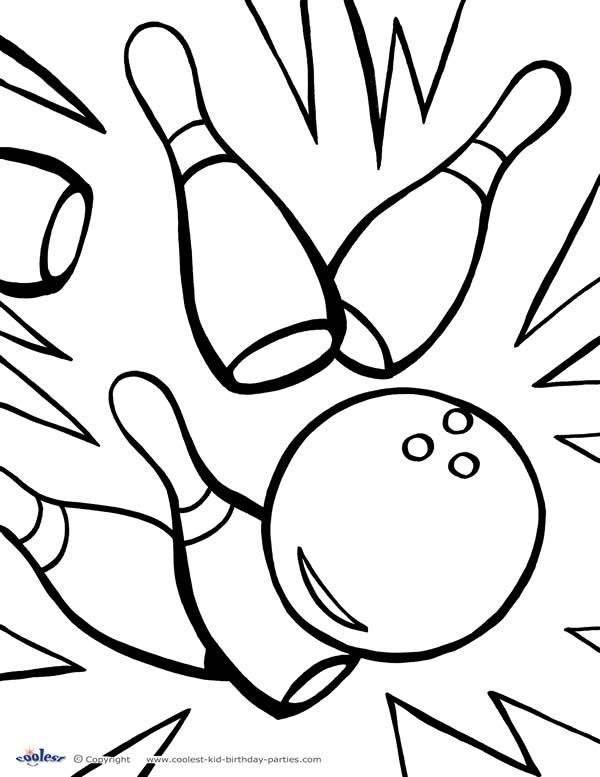 bowling pin coloring pages - photo#16