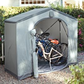 Create instant storage with a Pop-up Tent Shed | Solutions.com #Garden #Storage #Backyard