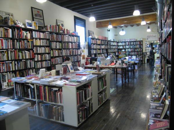 La Central has several bookshops all over Barcelona and Madrid. This is the one located at El Raval, one of the trendiest neighbourhoods in Barcelona. Like dying and going to book heaven. http://www.lacentral.com/