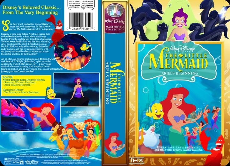 Ariel's Beginning VHS Cover by PetiteTiaras   Have you ever wanted your new favorite Disney movies to look just as awesome as your old VHS? Print this out and it fits perfectly inside a clamshell case VHS.  Click for full size.  More coming soon!