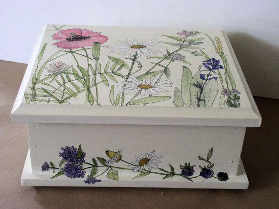 Bemalte Möbel Natur Boxen Botanischer Garten Von BetweenTheWeeds