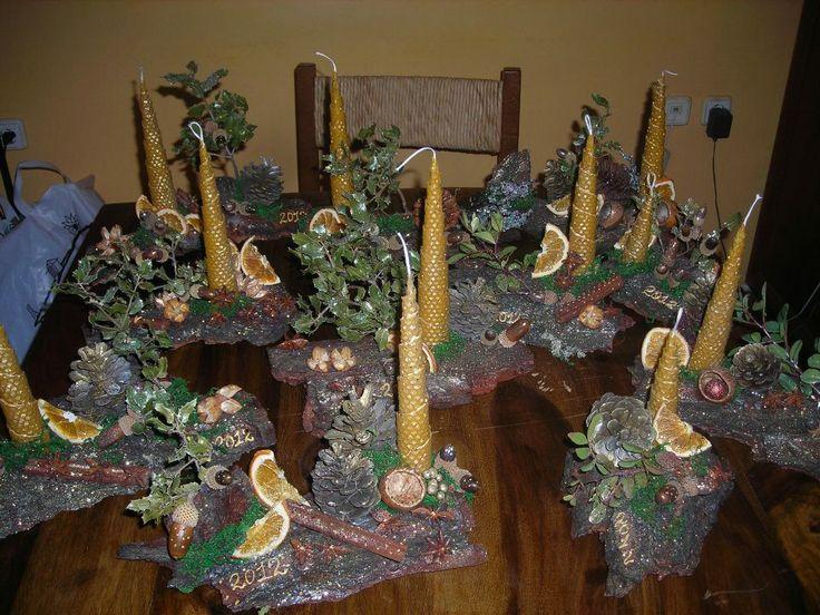 cristmas handmade candles