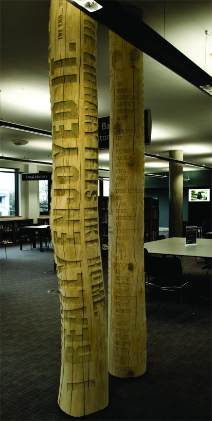 Typographic Tree by Gordan Young and Why Not Associates. Could be an good idea for the park wayfinding signage.
