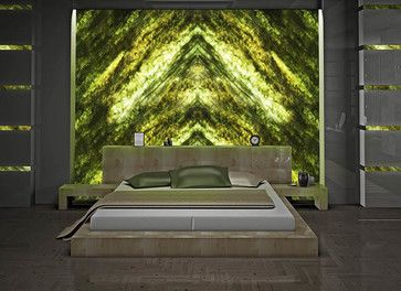 Green Onyx Wall - Contemporary - Architectural Details - Miami - Crystaline Stone
