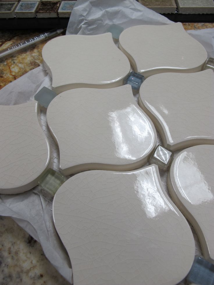 A curvy option for subway #tile. Going into my client's new kitchen backsplash.