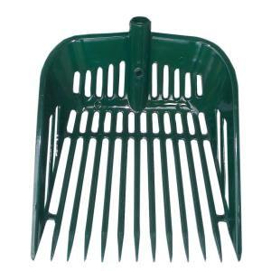 Kunststoff Bollengabel, extrem stabil S+F | Streu- und Dunggabel | Mistforke, grün ***