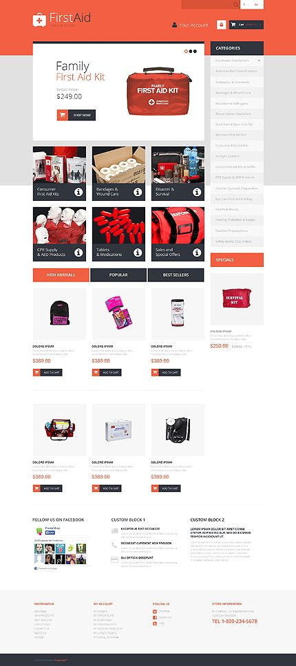 First Aid #Prestashop store template $140