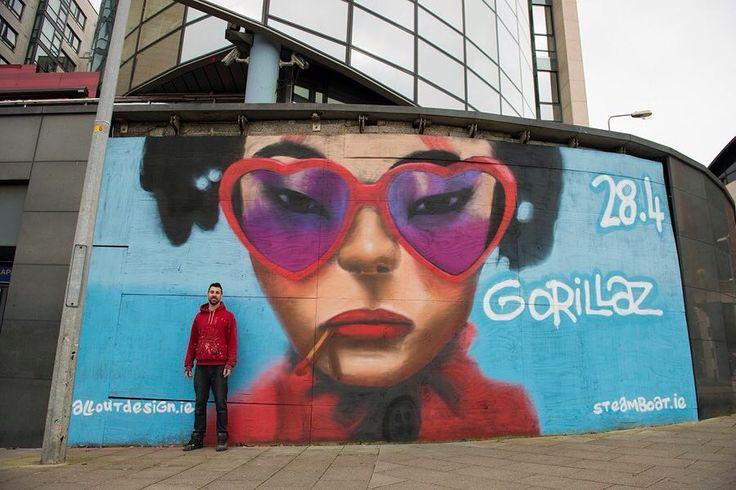 Amazing Gorillaz piece in #dublin by @alloutdesign  #wallart #globalstreetart #streetart #mtn94  http://globalstreetart.com/steve-odonnell