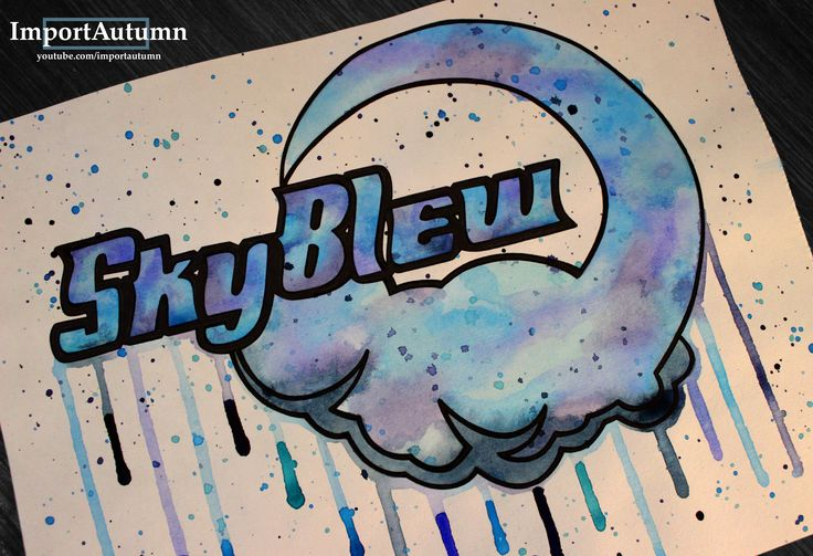 Drawing SkyBlew's logo! Watch me draw it on my Youtube account: www.youtube.com/importautumn