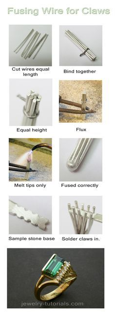 Fusing Wire for Claws / <b>Prongs</b> - Making wire claws (<b>prongs</b>)
