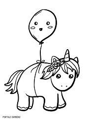 Disegni di unicorni e unicorni kawaii da colorare for Neonati da colorare e stampare