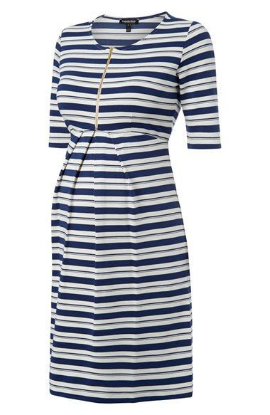 Isabella Oliver 'Beaumont' Stripe Maternity Dress available at #Nordstrom