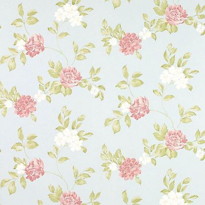 The wallpaper has a classic floral design that works beautifully with a fresh, modern colour palette to create a contemporary interior. Description from itemprice.co.uk. I searched for this on bing.com/images