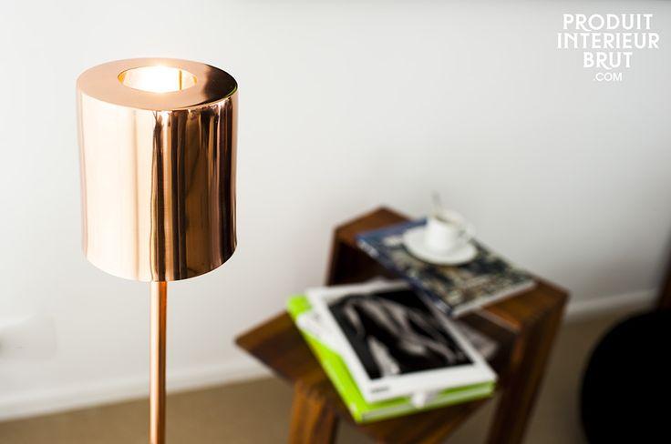 Lampe Gryde - lampe design - Une lampe design cuivrée à la chaleur scandinave