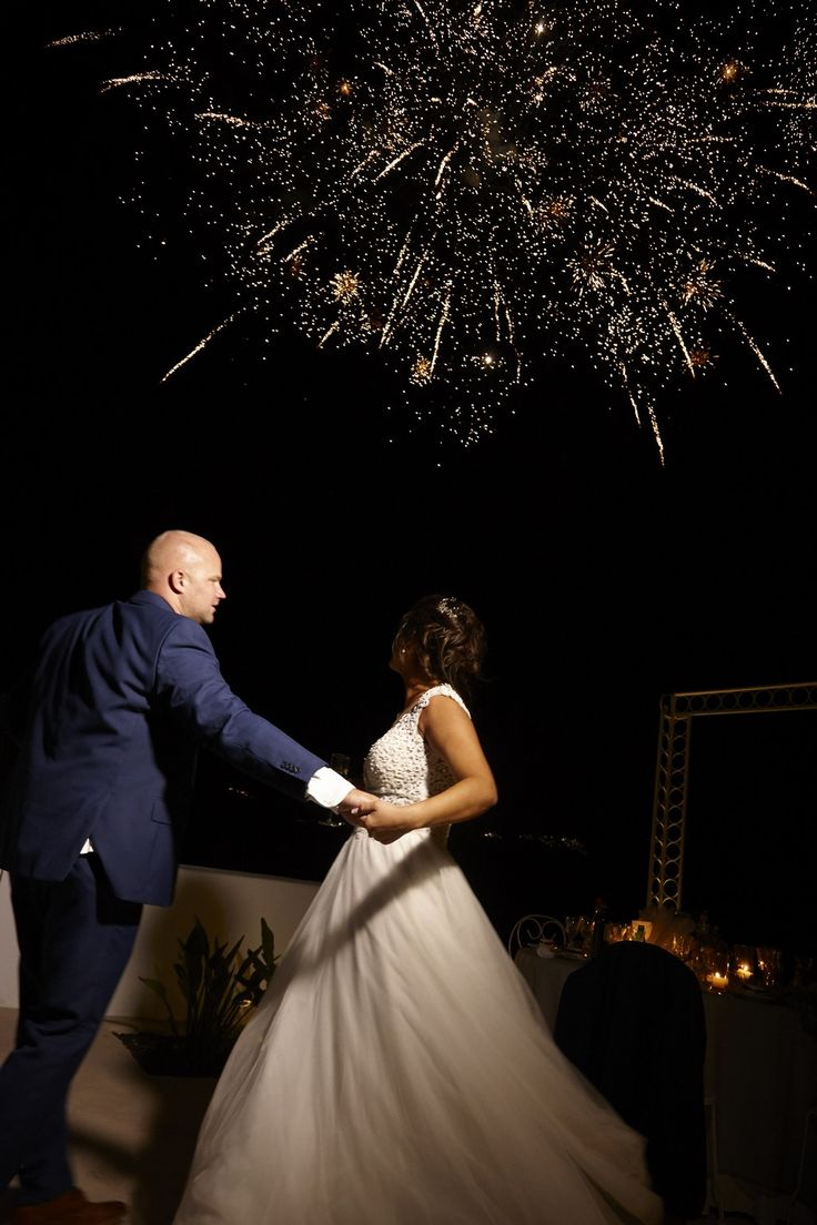 Fireworks, First Dance, Moments, Together, Happy, In Love, Santorini Weddings
