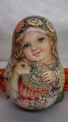 1 вида искусства акварель Roly Poly вложения матрешка русского автора кукла Стефания
