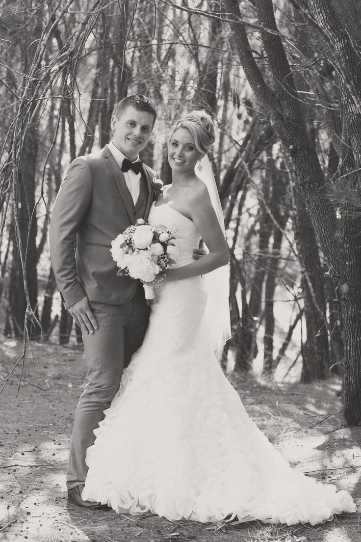 I love this photo taken at Cherbon Waters <3 - black and white, mermaid wedding dress, bowtie