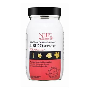 NHP Libido Support For Women 60 caps   Nourish Health & Beauty Store   This product has been specially designed for women, combining high-quality ingredients and essential nutrients to help increase energy levels, protect the body against the effects of stress, and help to improve sexual performance.