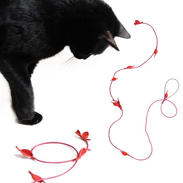 .  design4paws  .   Jewellery Toy .  A premium quality handmade toy for your precious felines!  http://www.design4paws.com/?product=jewellery-toy