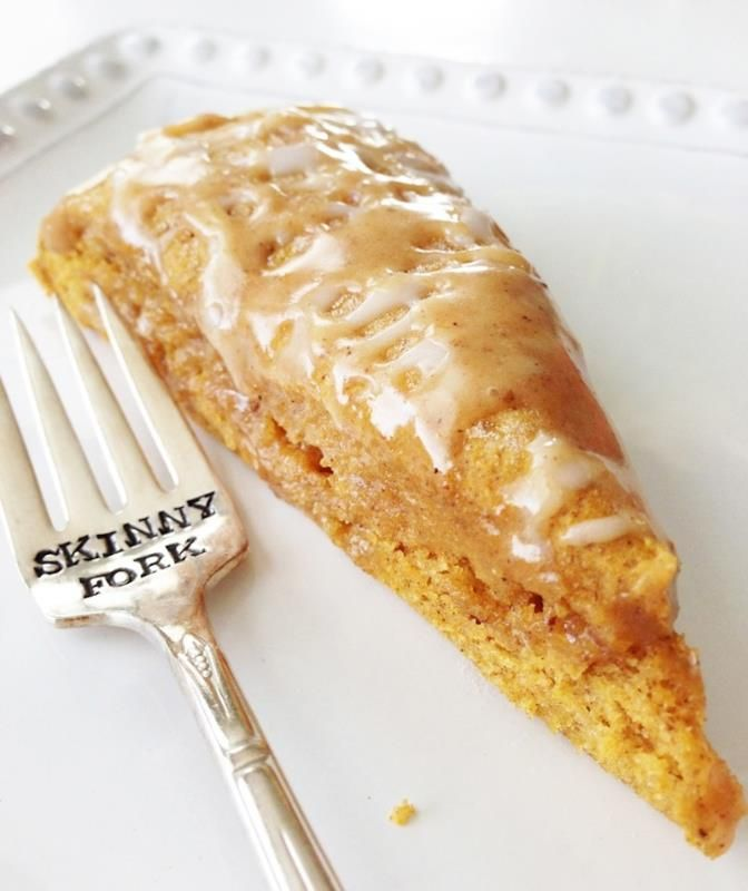 This pumpkin scone is so delicious! It's hard to believe that this isn't full of calories!