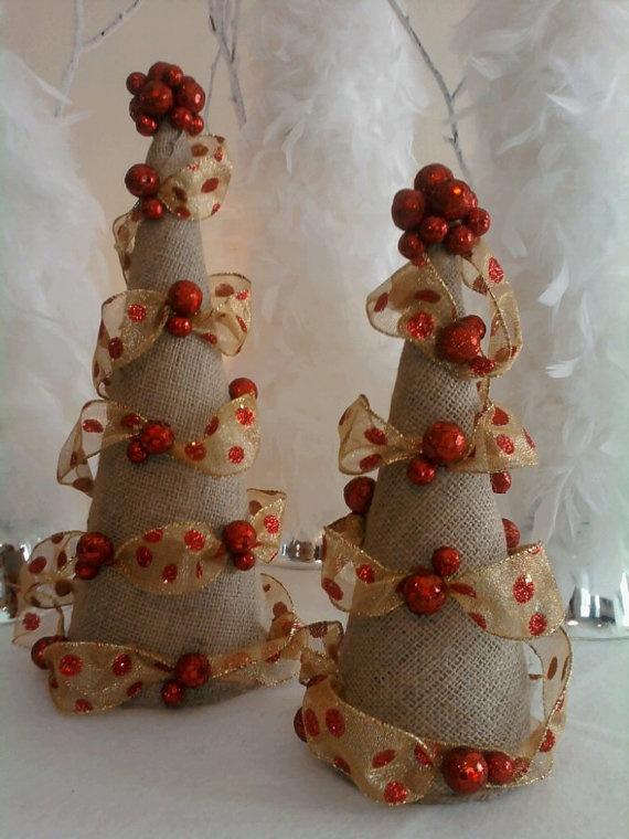 Christmas Cone Trees by SeasonsToCelebrate on Etsy, $45.00