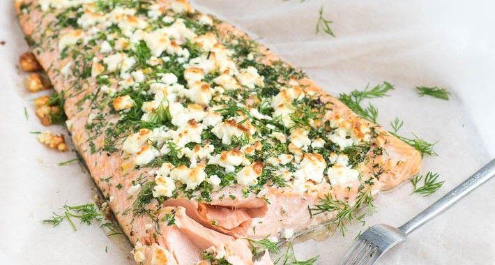 Fresh & Easy: Hele Zalm met Kruidenkorst uit de oven - Uit Pauline's Keuken