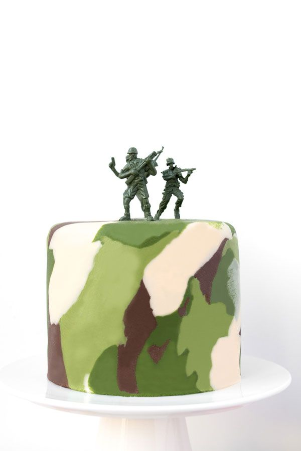 Camo cake. For the recipe, visit www.dollarsweets.com/recipes