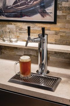 """Beer Dispensing for the Home with the 24"""" Signature Series Beer Dispenser by #perlick (via houzz.com)"""